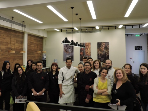 Pastry students from IEK Etoile visited the Greek Baking School.
