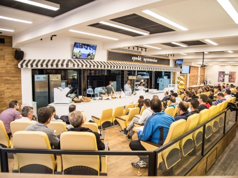 Greek Baking School has a fully technologically equipped classroom.